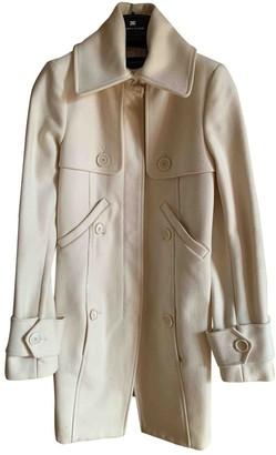 Patrizia Pepe Ecru Wool Coat for Women