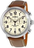 Shinola Men's The Runwell 47mm Leather Band Steel Case Quartz Watch 20001115