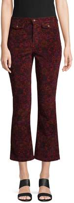 Free People Graphic Flared Cropped Pants