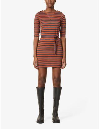 Sessun Striped stretch-jersey mini dress