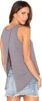 Bobi Slubbed Jersey Open Cross Back Tank