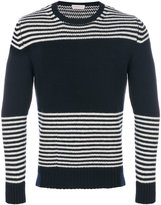 Moncler striped crew neck jumper