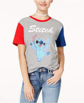 Disney Juniors' Stitch Contrast Graphic T-Shirt by Hybrid