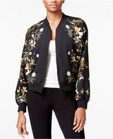 Rachel Roy Floral-Print Bomber Jacket, Only at Macy's