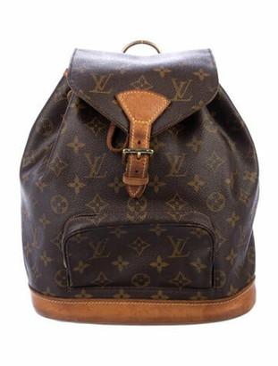 Louis Vuitton Monogram Mini-Montsouris Backpack Brown