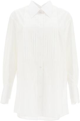 Dolce & Gabbana OVERSIZED COTTON SHIRT 38 White Cotton
