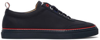 Thom Browne Navy Leather Cupsole Sneakers