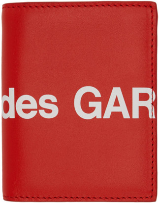 Comme des Garçons Wallets Red Huge Logo Card Holder