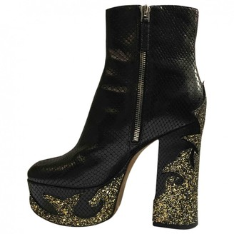Marc Jacobs Black Glitter Ankle boots