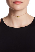 Argentovivo 18K Yellow Gold Plated Sterling Silver 'L' Initial Heart Choker Necklace