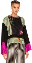 Etro Printed Long Sleeve Top in Black,Floral,Green,Pink.