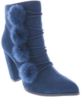 Penny Loves Kenny Women's Adz Pointed Toe Pom Pom Boot