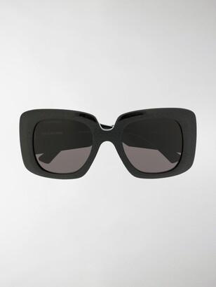 Balenciaga Oversized Square-Frame Sunglasses