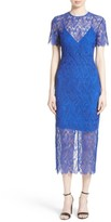 Diane von Furstenberg Women's Lace Midi Sheath Dress