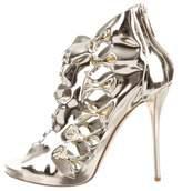 Oscar de la Renta Bow Embellished Caged Sandals w/ Tags
