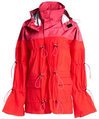 Unravel Project Nylon Hybrid Sport Parka