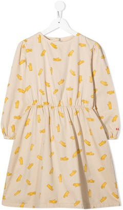 Bobo Choses Hand-print cotton dress