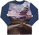 Molo Kids Photo-Real Shark & Car T-Shirt-BLUE