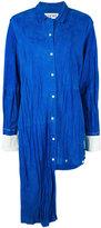 Loewe asymmetric shirt - women - Cotton/Goat Suede - 36