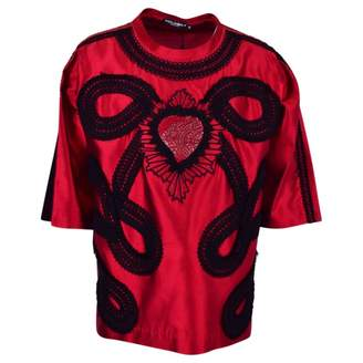Dolce & Gabbana Red Silk T-shirts