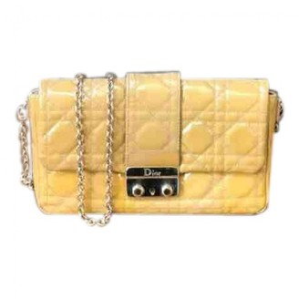 Christian Dior Miss Yellow Leather Handbags