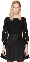 Marc Jacobs Black Pearl Crewneck Sweater