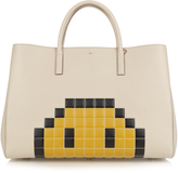 Anya Hindmarch Pixel Smiley Ebury Maxi leather tote
