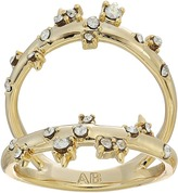 Alexis Bittar Double Band Satellite Crystal Ring Ring
