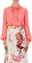 Lanvin Women's Silk Button-Front Blouse-Pink