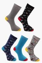 boohoo 5 Pack Socks In Space Design