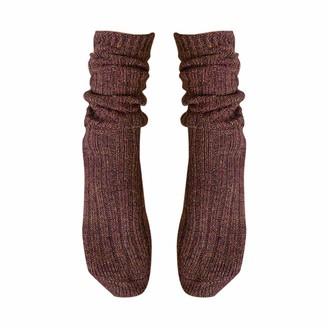 Goosun Clothing Long Crew Sock Athletic Sports Knit Womens Winter Socks Crew Cut Solid Color Goosun Retro Thick Warm Soft Wool Socks Thermal Fuzzy Winter Warm Crew Cold Weather Casual Socks