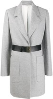 Joseph belted single-breasted coat