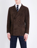 Boglioli Double-breasted suede jacket
