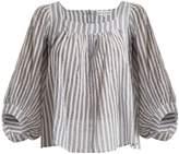 Apiece Apart Orchard striped balloon-sleeve top