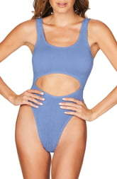 Bond Eye Bound By The Mishy High Cut Ribbed One-Piece Swimsuit