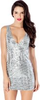 LookbookStore Women's Fashion Deep V Cocktail Sequin Party Dress US
