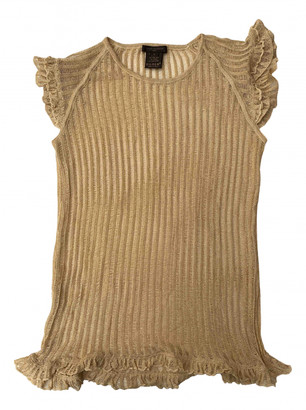 Louis Vuitton Gold Cashmere Knitwear