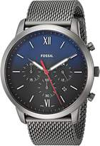Fossil Men's 'Neutra Chrono' Quartz Stainless Steel Casual Watch, Color: (Model: FS5383)