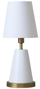 "Zoomie Kids Buhl 13"" Table Lamp Base Finish: White/Weathered Brass"