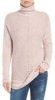 Velvet by Graham & Spencer Women's Open Stitch Funnel Neck Sweater