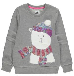 George Grey Polar Bear Christmas Sweatshirt