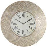 Pier 1 Imports Mosaic Wall Clock - Ivory