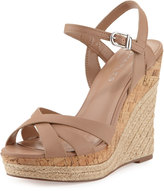 Charles by Charles David Astro Leather Wedge Sandal, Nude
