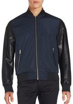 Karl Lagerfeld Two-Tone Long Sleeve Jacket