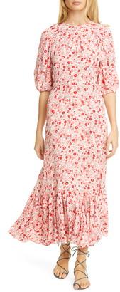 By Ti Mo Bytimo Floral Print Crepe Midi Dress