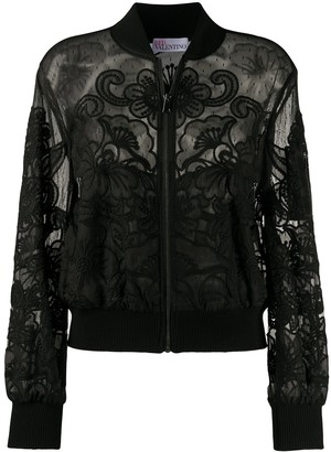 RED Valentino embroidered bomber jacket
