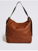 M&S Collection Faux Leather Slouchy Tote Bag