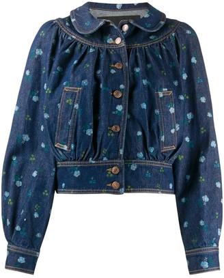 Marc Jacobs floral Peter pan-collar denim jacket