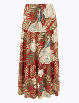 Per Una UsMarks and Spencer Floral Print Fit & Flare Maxi Skirt