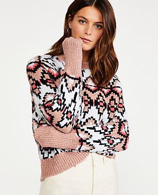 Ann Taylor Petite Fair Isle Jacquard Sweater